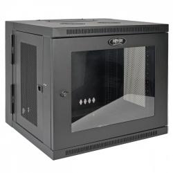 Tripp Lite Gabinete de Pared para Rack SmartRack de Bajo Perfil, 10U, hasta 90.7kg - con Ajuste de Profundidad del Interruptor