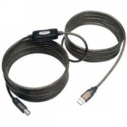 Tripp Lite Cable USB 2.0 A Macho - USB 2.0 B Macho, 8 Metros, Negro