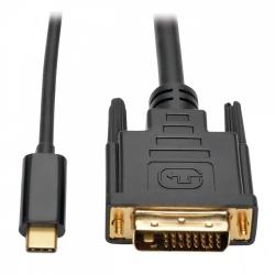 Tripp Lite Cable USB C Macho - DVI-D Macho, 91cm, Compatible con Thunderbolt 3, Negro