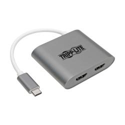 Tripp Lite Adaptador USB C Macho - 2x HDMI Hembra, Gris