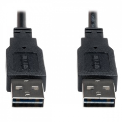 Tripp Lite Cable USB A Macho - USB A Macho, 91cm, Negro