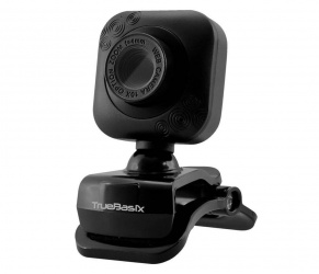 True Basix Webcam TB-916776, 600 x 480 Pixeles, USB, Negro