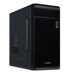 Gabinete True Basix DELTA, Mini-Tower, Micro-ATX/Mini-ATX/Thin Mini-ITX, USB 2.0/USB 3.1, incluye Fuente de 500W, Negro
