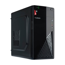 Gabinete True Basix LYNX, Mini-Tower, Micro-ATX/Mini-ATX/Thin Mini-ITX, incluye Fuente de 500W, Negro