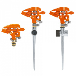 Truper Aspersor con Estaca ASP-11, Metal/Naranja