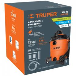 Truper Aspiradora/Sopladora ASPI-12S, 3700W, 45L, Naranja