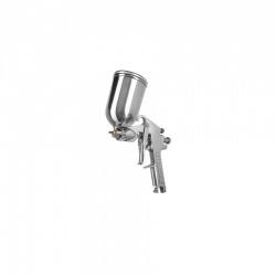 Truper Pistola para Pintar PIPI-422, 2mm, 400ml, Plata - incluye Cepillo de Limpieza/ Espiga para Manguera/ Tuerca/ Llave de Mantenimiento/ Filtro