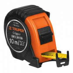 Flexómetro Truper FH-10M, 10 Metros, 32mm, Negro/Naranja