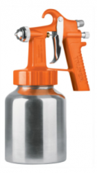 Truper Pistola de Presión para Pintar PIPI-27, 50PSI, 1.3mm, 1L, Cromado/Naranja