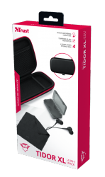 Trust Kit de Accesorios para Nintendo Switch GXT 1241 Tidor XL, Negro/Rojo