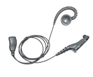 txPRO Micrófono de Solapa, Negro, para Motorola