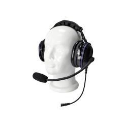 txPRO Audifonos con Micrófono para Radio TX-750-S04, S04, Negro, para ICOM