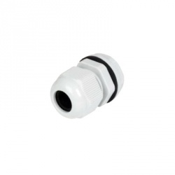 txPRO Conector Plástico Tipo Glándula para Cable de 18 - 25mm, Blanco