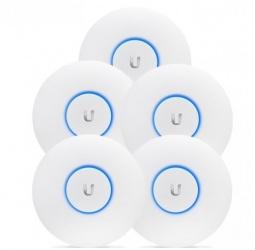 Access Point Ubiquiti Networks UniFi AC Pro 5, Inalámbrico, 1300 Mbit/s, 2.4-5GHz, 3 Antenas de 3dBi - Paquete de 5 Piezas