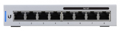 Switch Ubiquiti Networks Gigabit Ethernet UniFi Switch 8, 8 Puertos 10/100/1000Mbps, 16 Gbit/s - Gestionado