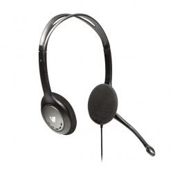 V7 Audífonos con Micrófono HA201, Alámbrico, 1.8 Metros, Negro