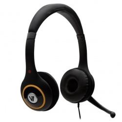V7 Audífonos con Micrófono HU511, Alámbrico, 1.8 Metros, Negro