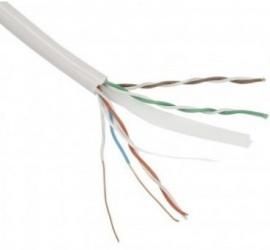 Vcom Bobina de Cable Cat6 UTP 4 Pares, 305m, Gris