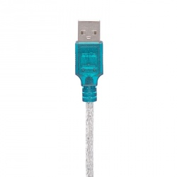 Vcom Cable  Cable Serial USB A Macho - DB9 Macho, 1.2 Metros, Azul/Plata