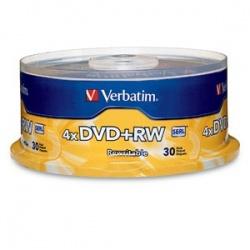 Verbatim Discos Virgenes para DVD, DVD+RW, 4x, 4.7GB, 30 Discos