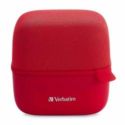 Verbatim Bocina Portátil Cube, Bluetooth, Inalámbrico, 5W RMS, USB, Rojo