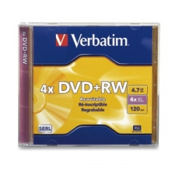 Verbatim Disco Vírgen para DVD, DVD+RW, 4x, 1 Disco