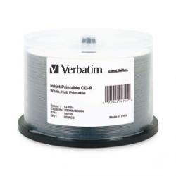Verbatim Discos Virgenes para CD, CD-R, 52x, 50 Discos (94755)