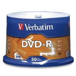 Verbatim Torre de Disco Vírgen para DVD, DVD-R, 16x, 4.7GB, 50 Piezas