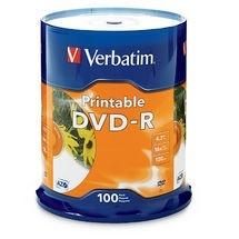 Verbatim Torre de Discos Virgenes para DVD, DVD-R, 16x, 100 Discos