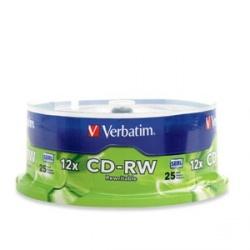 Verbatim Torre de Discos Virgenes para CD, CD-RW, 25 Discos