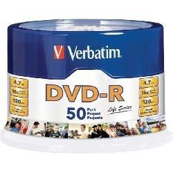 Verbatim Torre de Discos Virgenes para DVD, DVD-R, 16x, 50 Discos