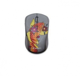 Mouse Verbatim Multi-Trac LED Azul, Inalámbrico, Tatoo Koi