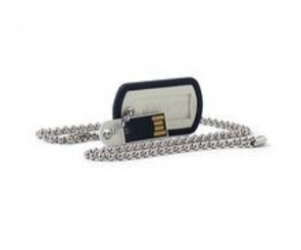 Memoria USB Verbatim Dog Tag, 16GB, USB 2.0, Negro