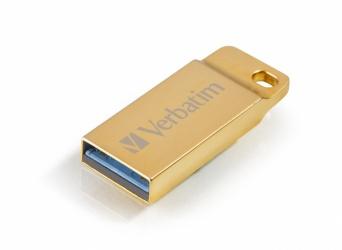 Memoria USB Verbatim Metal Executive, 32GB, USB 3.0, Dorado