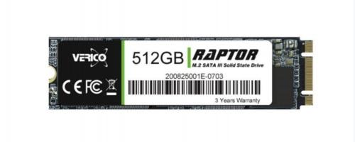 SSD Verico Raptor 3D NAND, 512GB, SATA III, M.2