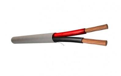 Viakon Bobina de Cable de Señal 2 Conductores, 305 Metros, Gris