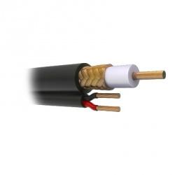 Viakon Cable Siames Coaxial RG59, Negro - Precio por Metro