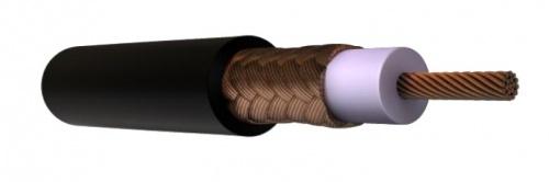 Viakon Cable Coaxial Blindado, 1 Metro, Negro