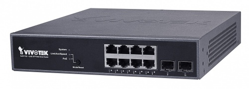 Switch Vivotek Gigabit Ethernet AW-GEV-104B-130, 8 Puertos 10/100/1000Mbps + 2 Puertos SFP, 20 Gbit/s, 8190 Entradas - Gestionado