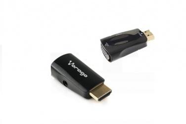 Vorago Adaptador HDMI - VGA + 3.5mm, Negro