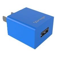 Vorago Cargador de Pared AU-105 V2, 5V, 1 Puerto USB 2.0, Azul
