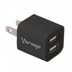 Vorago Cargador para Pared AU-106, 5V, 2x USB 2.0, Negro