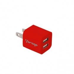 Vorago Cargador para Pared AU-106, 5V, 2x USB 2.0, Rojo