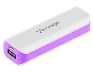 Cargador Portátil Vorago PowerBank AU-107, 2600mAh, USB, Morado/Blanco