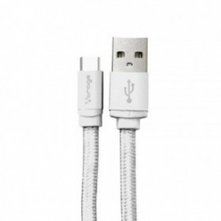 Vorago Cable USB A Macho - USB-C Macho, 1 Metro, Blanco