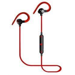 Vorago Audífonos Intrauriculares Deportivos ESB-300, Inalámbrico, Bluetooth, 60cm, Negro/Rojo