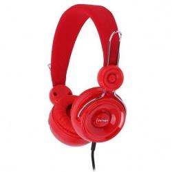 Vorago Audífonos con Micrófono HP-205, Alámbrico, 1.2 Metros, Rojo