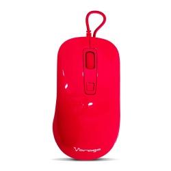 Mouse Vorago Óptico MO-102, Alámbrico, USB, 1600DPI, Rojo