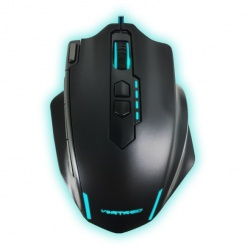 Mouse Gamer Vortred Óptico Dominion, Alámbrico, 4000DPI, Negro