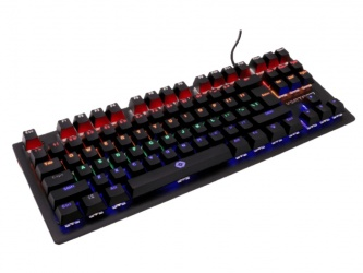 Teclado Gamer Vortred Alpha RGB, Teclado Mecánico, Alámbrico, Negro (Español)